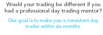 Would your trading be different if you had a professional day trading mentor? Our goal is to make you a consistent day trader within six months.